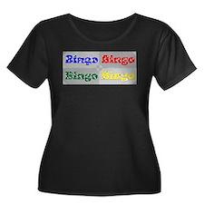 Bingo Four Ways Plus Size T-Shirt