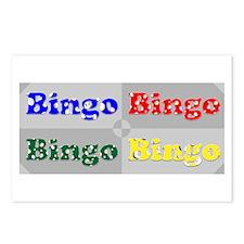 Bingo Four Ways Postcards (Package of 8)