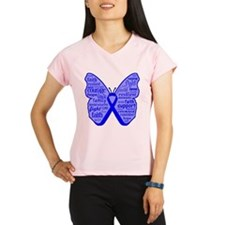 Butterfly Colon Cancer Ribbon Performance Dry T-Sh