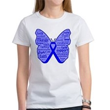 Butterfly Colon Cancer Ribbon Tee