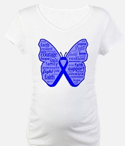 Butterfly Colon Cancer Ribbon Shirt