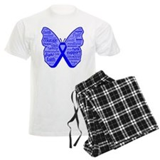 Butterfly Colon Cancer Ribbon Pajamas