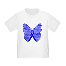 Butterfly Colon Cancer Ribbon T