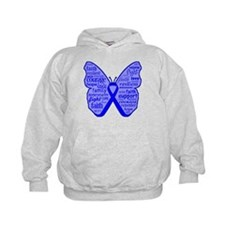 Butterfly Colon Cancer Ribbon Hoodie