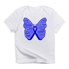Butterfly Colon Cancer Ribbon Infant T-Shirt