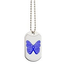Butterfly Colon Cancer Ribbon Dog Tags