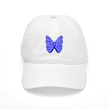 Butterfly Colon Cancer Ribbon Baseball Cap