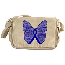 Butterfly Colon Cancer Ribbon Messenger Bag