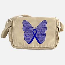 Butterfly Colon Cancer Ribbon Messenger Bag