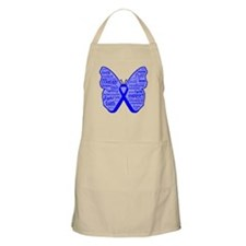Butterfly Colon Cancer Ribbon Apron