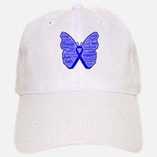 Butterfly Colon Cancer Ribbon Baseball Baseball Cap