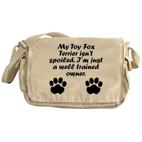 Well Trained Toy Fox Terrier Owner Messenger Bag