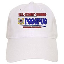 Coast Guard Reserve White Baseball Cap