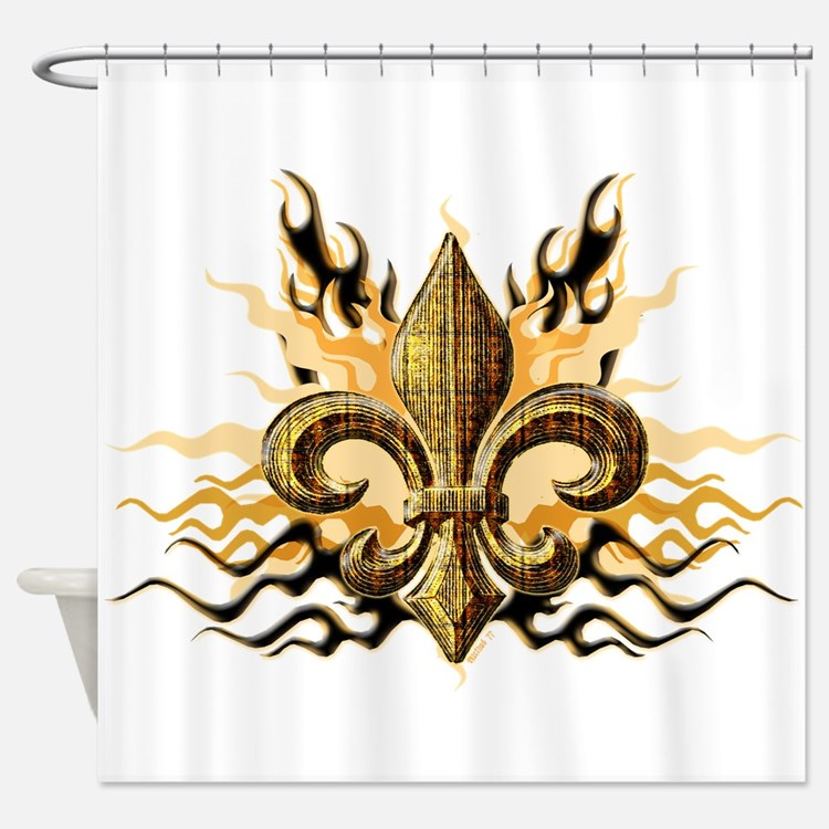 Fluer de lis shower curtains fluer de lis fabric shower curtain liner - Fleur de lis shower curtains ...
