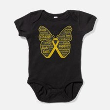Butterfly Childhood Cancer Baby Bodysuit