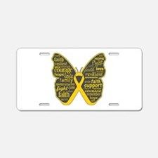 Butterfly Childhood Cancer Aluminum License Plate