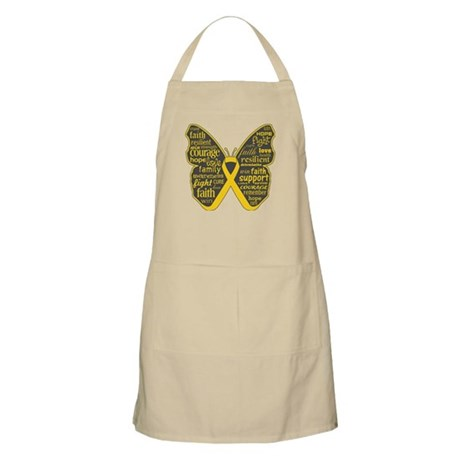 Butterfly Childhood Cancer Apron