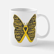 Butterfly Childhood Cancer Mug
