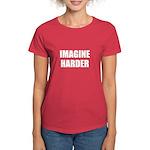 Imagine Harder Women's Dark T-Shirt