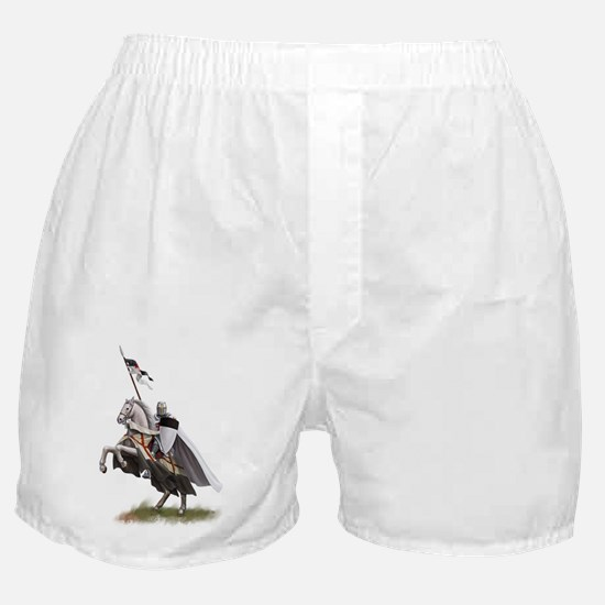 templar on rearing horse coloured dig Boxer Shorts