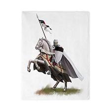 templar on rearing horse coloured digi Twin Duvet