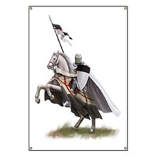 templar on rearing horse coloured digi Banner