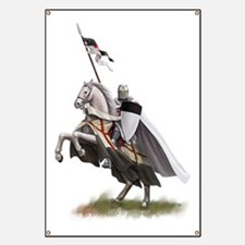 templar on rearing horse coloured digi Banner