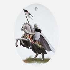 templar on rearing horse coloured di Oval Ornament