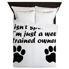 Well Trained Pit Bull Owner Queen Duvet