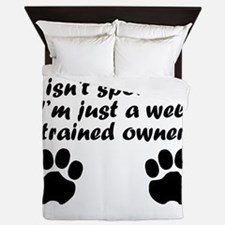Well Trained Poodle Owner Queen Duvet