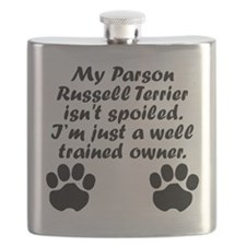 Well Trained Parson Russell Terrier Owner Flask