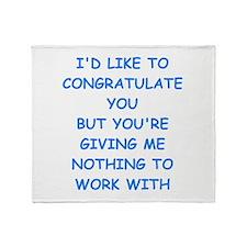 congratulations Throw Blanket