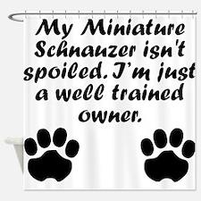 Well Trained Miniature Schnauzer Owner Shower Curt