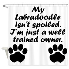 Well Trained Labradoodle Owner Shower Curtain