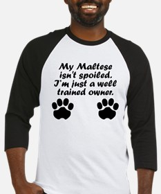 Well Trained Maltese Owner Baseball Jersey