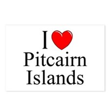 """I Love Pitcairn Islands"" Postcards (Package of 8)"