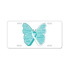 Butterfly Cervical Cancer Aluminum License Plate