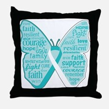 Butterfly Cervical Cancer Throw Pillow