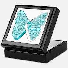 Butterfly Cervical Cancer Keepsake Box