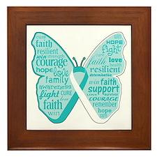 Butterfly Cervical Cancer Framed Tile