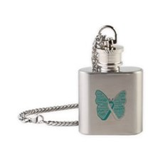 Butterfly Cervical Cancer Flask Necklace