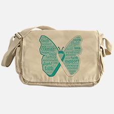 Butterfly Cervical Cancer Messenger Bag
