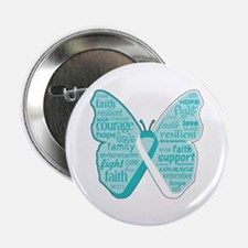 """Butterfly Cervical Cancer 2.25"""" Button"""