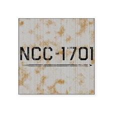 """ncc-1701-sq-worn Square Sticker 3"""" x 3"""""""