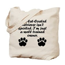 Well Trained Flat-Coated Retriever Owner Tote Bag