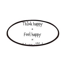 Think happy, Feel happy Quotation Patches