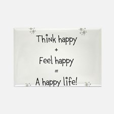 Think happy, Feel happy Quotation Magnets