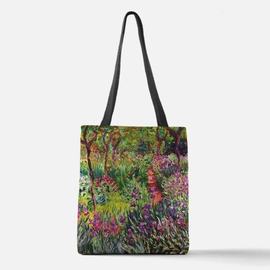 Iris Garden by Monet Polyester Tote Bag