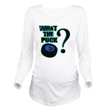 what_the_puck_green Long Sleeve Maternity T-Shirt