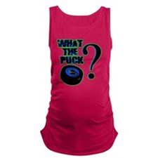 what_the_puck_green Maternity Tank Top